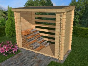 Woodshed 2,24x1,44 m, tl. 28 mm, objem 4,6 m3
